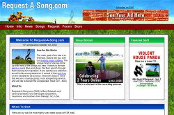 Request-A-Song 2004 Website